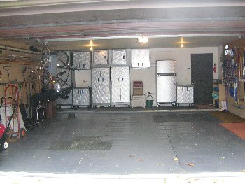 organized garage after