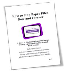 How to Stop Paper Piles Now and Forever Title Page Image