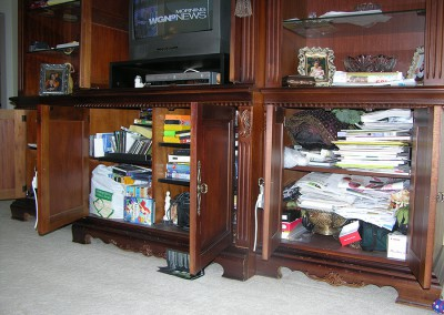 Entertainment Center Before