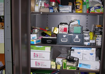 Office Supply Cabinet Before