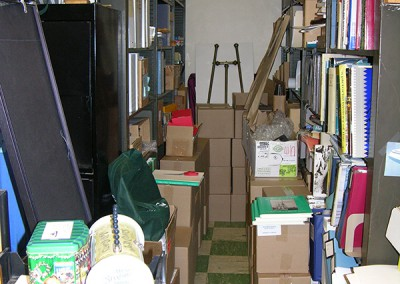 Workplace Supply Storage Before
