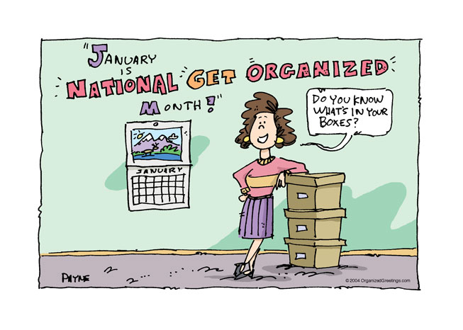 January is Get Organized Month