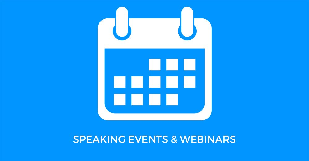 Calendar of Purple Durple Organizers Speaking Events and Webinars
