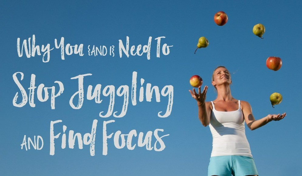 Key to an organized life is to find focus