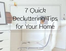 Quick Step De-Cluttering Tips